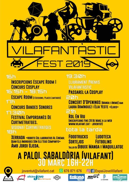 Cartell Vilafantàstic Fest 2019