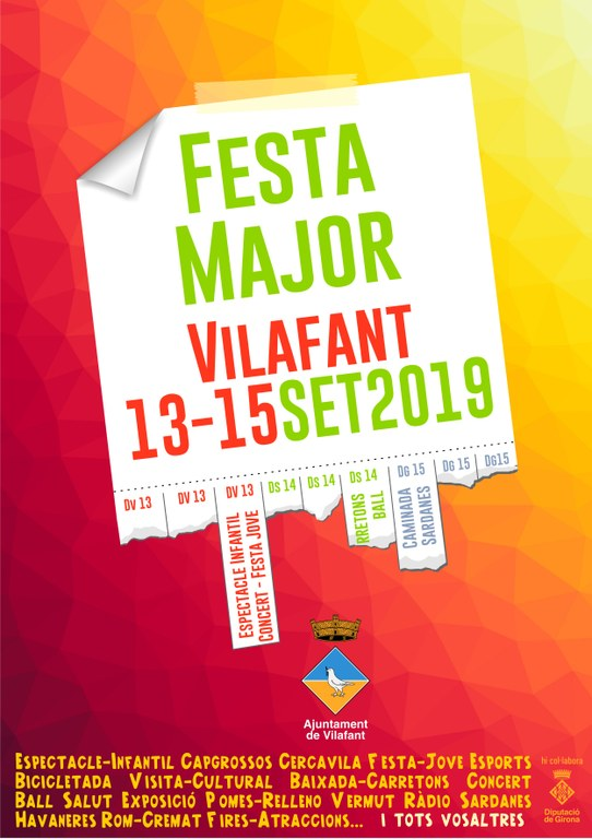 Cartell Festa Major 2019