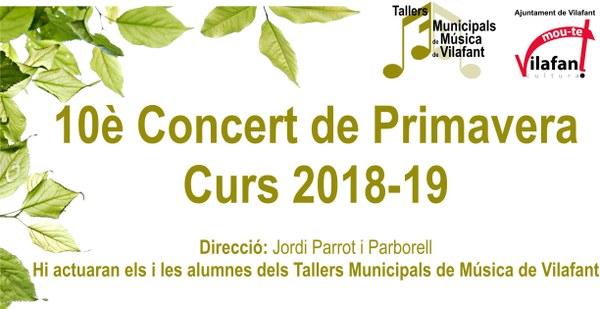 10è Concert de Primavera 2019 - Tallers municipals de Música de Vilafant