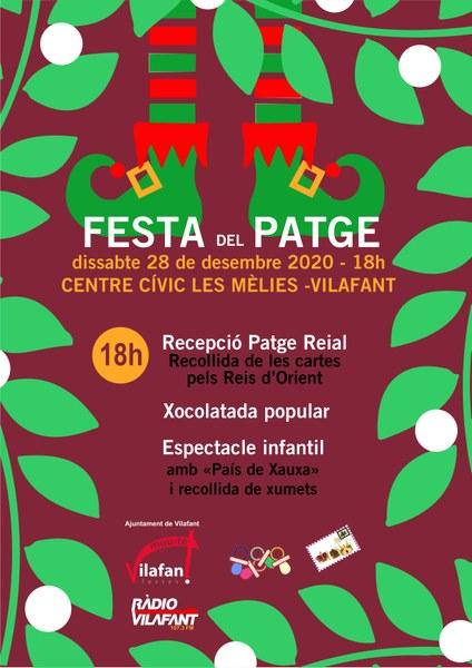Recepció del patge reial i festa infantil