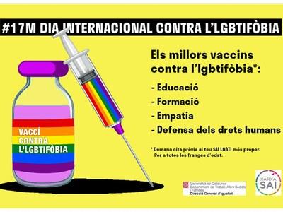 Dia Internacional contra l'lgtbifòbia - 17 de maig 2021