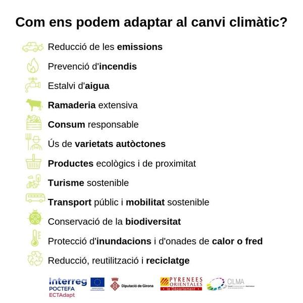 L'adaptació al canvi climàtic a l'Espai Català Transfronterer